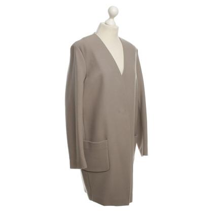 Closed Coat in Taupe