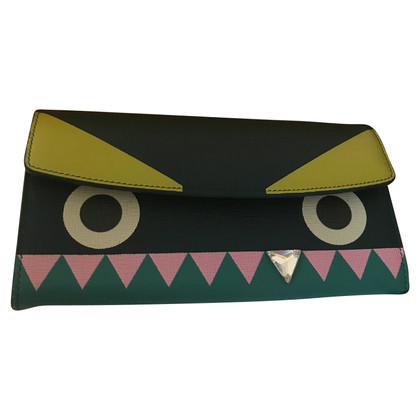 Fendi Clutch monster huid