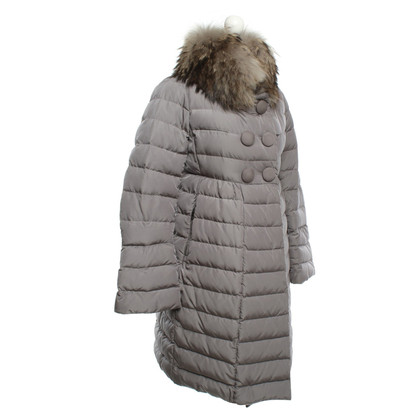 Moncler Cappotto Down in taupe