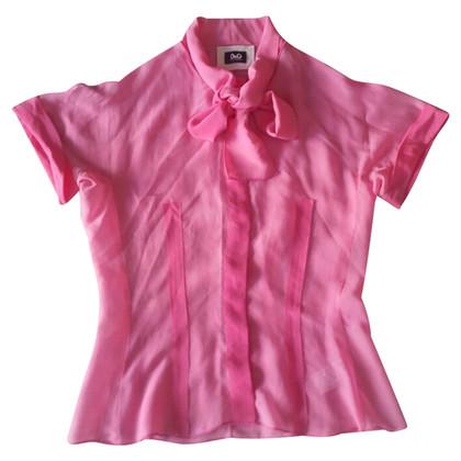 Dolce & Gabbana Bluse in rosa Seide