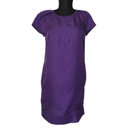 Patrizia Pepe Violet zijden jurk