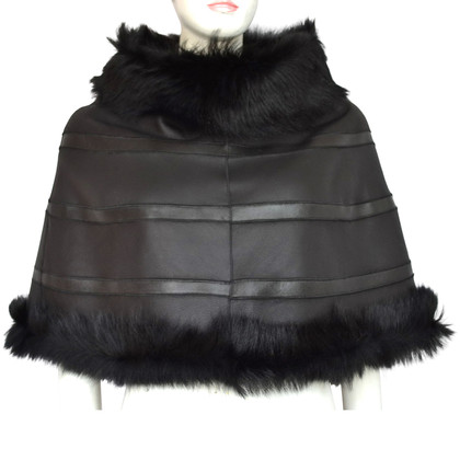 Escada Turn cloak made from lamb skin