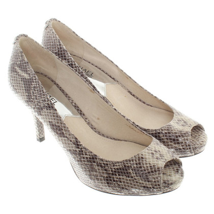 Michael Kors pumps leer in reptiel blik