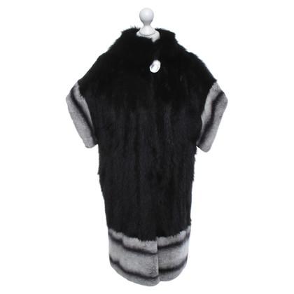 Other Designer Fur coat with chinchilla fur trim
