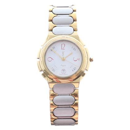 Yves Saint Laurent Armbanduhr in Silber/Gold