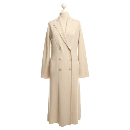 360 Sweater Cashmere coat in beige