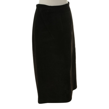 Hermès Suede skirt in black