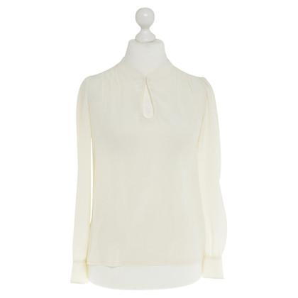 Tara Jarmon Ivory silk blouse