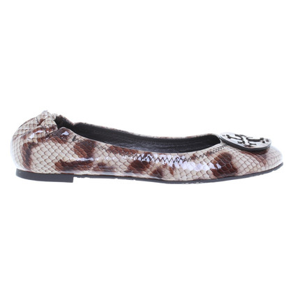 Tory Burch Ballerinas in reptile leather
