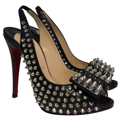 Christian Louboutin Peep-toes with rivets