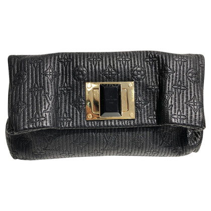 Louis Vuitton Altair Clutch zwart leer