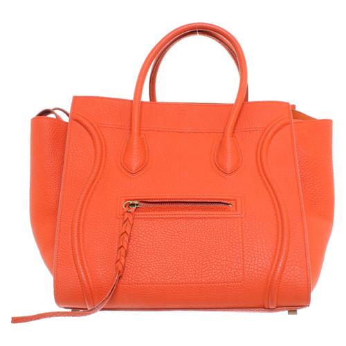 bad5fde02c00 Céline Luggage Mini Leather in Orange - Second Hand Céline Luggage ...