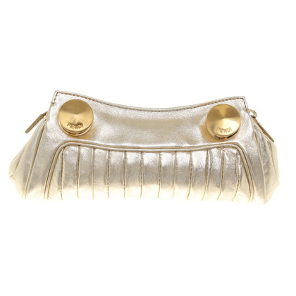 Fendi clutch in goud