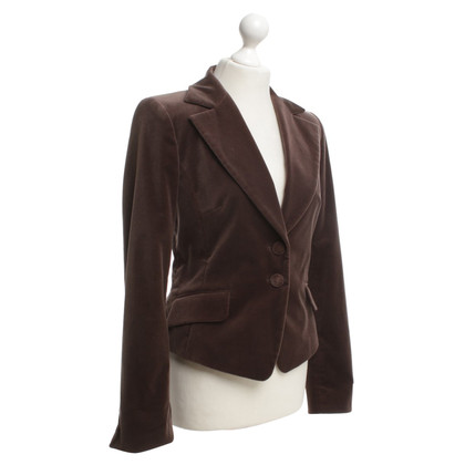 Escada Velvet blazer in brown