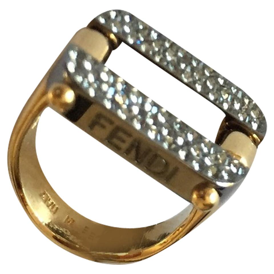 Fendi Ring mit Strass