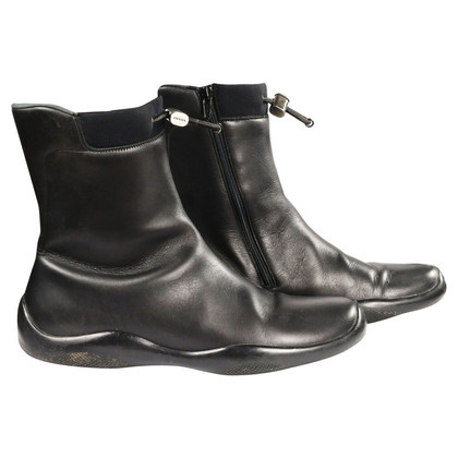 Prada Ankle boots leather/neoprene