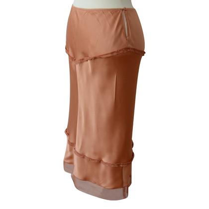 Prada Zijden rok nude