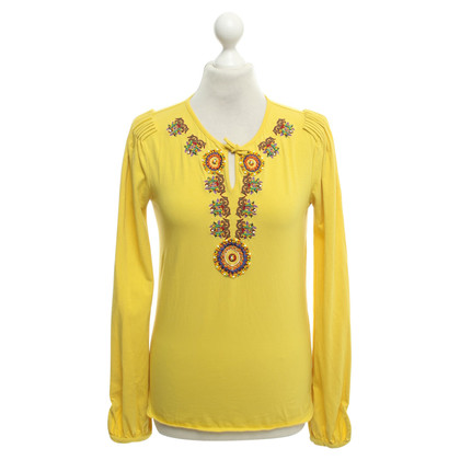 John Galliano top in yellow