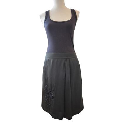 Turnover skirt silk