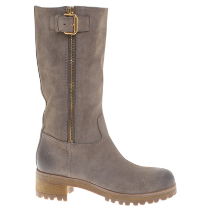 Prada Suede boots in khaki