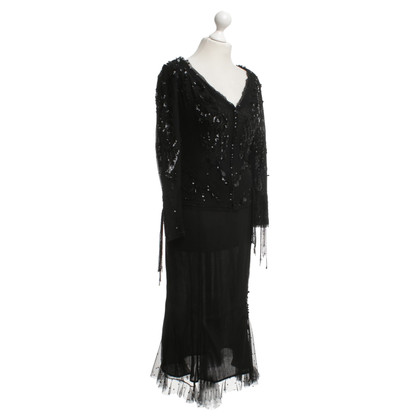 Ella Singh Sequin dress in black