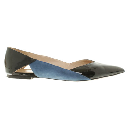 Hugo Boss Ballerina's in zwart / Blauw