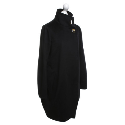 Armani Collezioni Cappotto in lana in nero