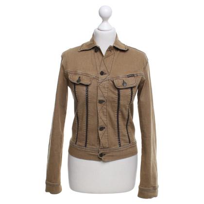 Plein Sud Jeans jacket in beige