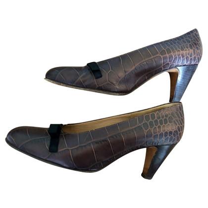 Marni pumps in crocodile look