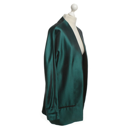 Haider Ackermann Silk Blazer in emerald green