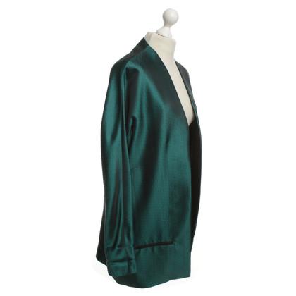 Haider Ackermann Silk Blazer en vert émeraude