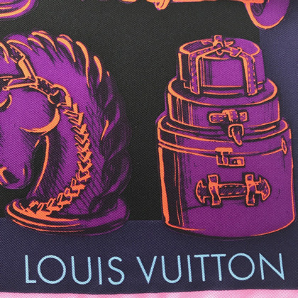 Louis Vuitton Silk Scarf Play Chess Lila