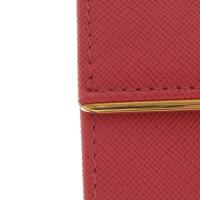Prada Lachsfarbenes Portemonnaie