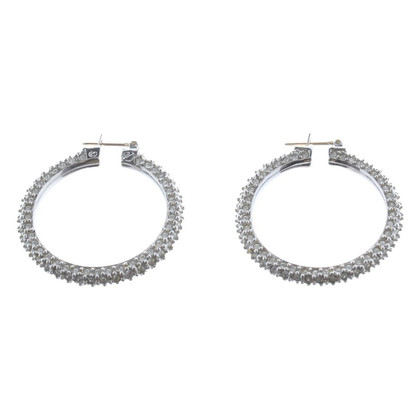 Swarovski Zilver hoop earrings