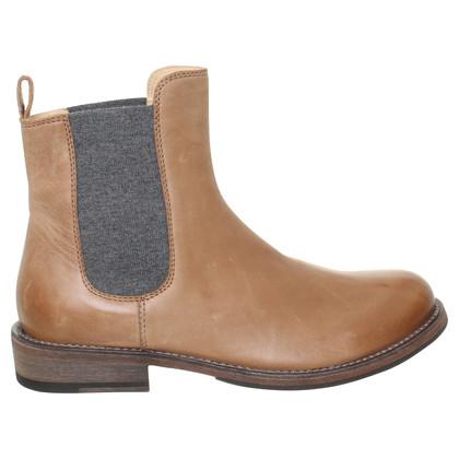 Brunello Cucinelli Chelsea Boots in Hellbraun