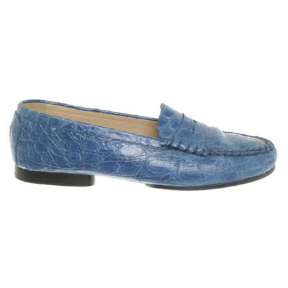 Unützer Loafers with reptile embossing