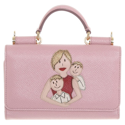 Dolce & Gabbana Leather pouch in rose