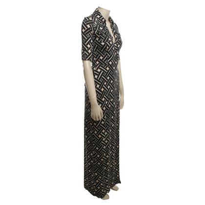 Diane von Furstenberg Zijden wikkeljurk met patroon