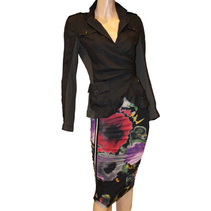 Marc Cain Pencil skirt black flowers