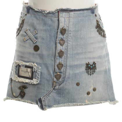 Dolce & Gabbana Jeans-skirt in mid blue
