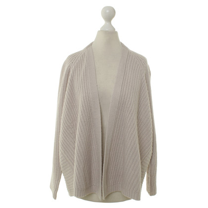 Velvet Knitted Cardigan in cream