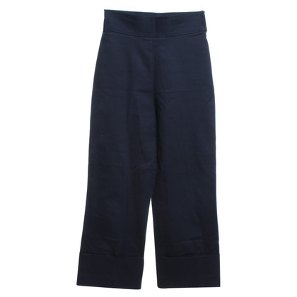 Miu Miu Cotton trousers in dark blue