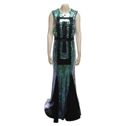 Marcel Ostertag Sequin Dress in Blue