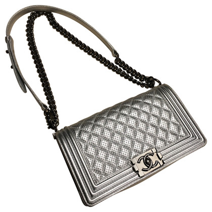 """Chanel """"Boy Bag Medium"""" in silver"""