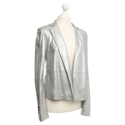 Strenesse Blue Silver-colored blazer leather