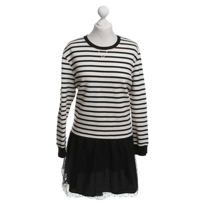 Red Valentino Knit dress with stripes