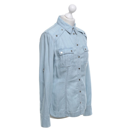 Karen Millen Denim shirt in light blue