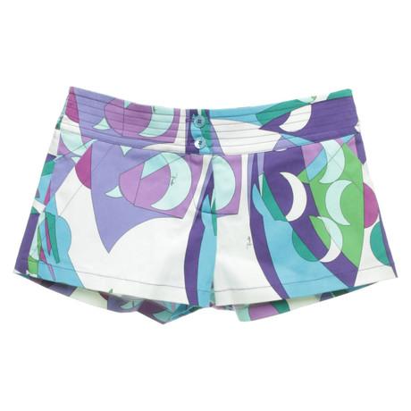 Emilio Pucci Shorts in Multicolor Bunt / Muster