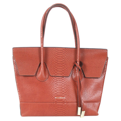 Coccinelle Handbag with reptile embossing