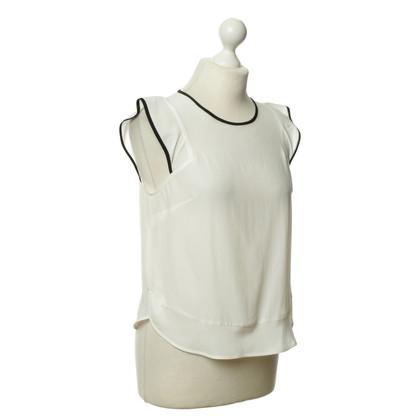 Sandro Silk top in white